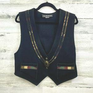 Coloratura Wool Western Trim Vintage Vest